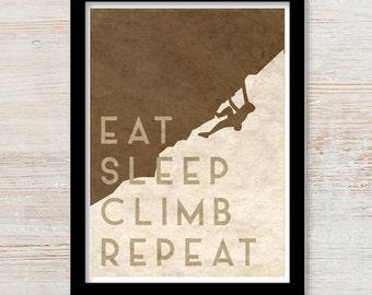 Eat Sleep Climb Repeat - Print