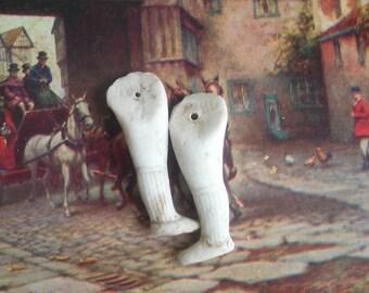 Excavated German Bisque Doll Legs / Altered Art Supplies / Antique Craft Supplies / Doll Parts / Steampunk Supplies / Assorted Pairs