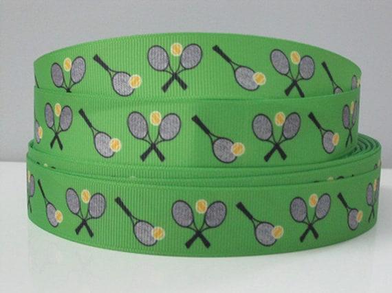 Basket Weaving Supplies Charleston Sc : Green tennis racquet ribbon grosgrain by the