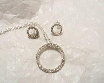 Sterling Silver Enernity Necklace / Earring Set