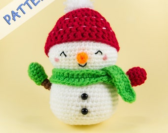 Crochet Snowman Pattern - Snowman Amigurumi Pattern - Snowman Doll Pattern - DIY Christmas Gift - Holiday Crochet Pattern -Jolly the Snowman