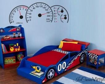 Car Decal | Race Car Wall Decal | Vinyl Wall Decal | Race Car Bedroom | Part 96