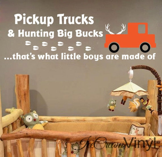 Nursery Wall Decal | Hunting Vinyl Decal | That's What Little Boys Are Made Of | Wildlife Cabin Sticker