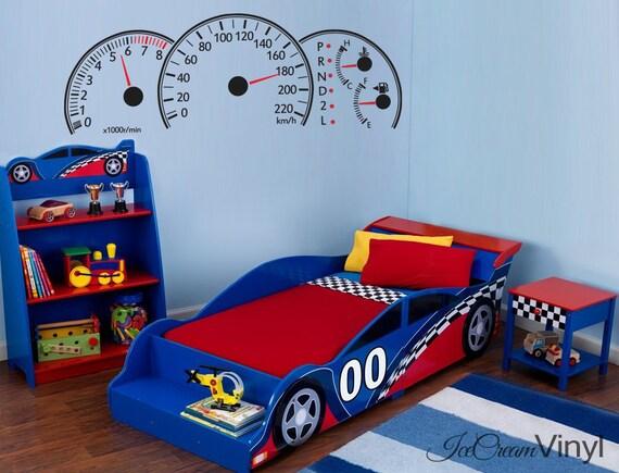 Race Car Dashboard Wall Decal for Boys Nursery Room Sports Vinyl for Girls Room Playroom Vinyl Sports Decor