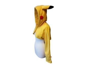 Cute yellow hooded shrug