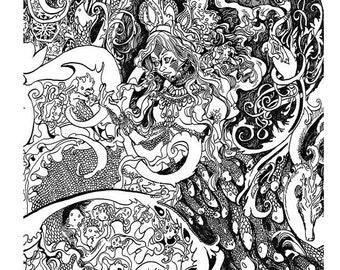 Reproduction - Mermaid 'Ma Mère Chantait Toujours'