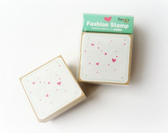 "Rubber stamp ""Heart & Words"""