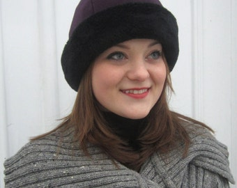 Polartec Hat with Faux Fur Trim