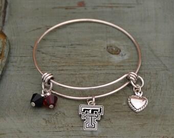 Texas Tech Red Raiders Memory Wire Bracelet