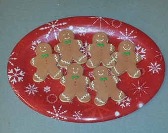 Gingerbread man decorated sugar cookies; 1 dozen