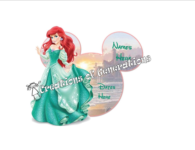 Disney cruise door decoration magnet ariel for Ariel decoration
