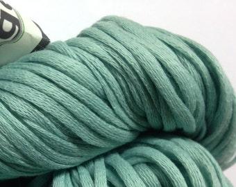 Kollage Cornucopia 100% corn woven worsted weight yarn (Cyan Green)