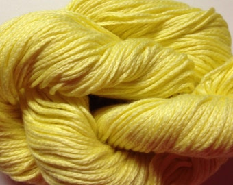 Noro Lilly Solid cotton/silk blend DK weight yarn (33 Light Yellow)