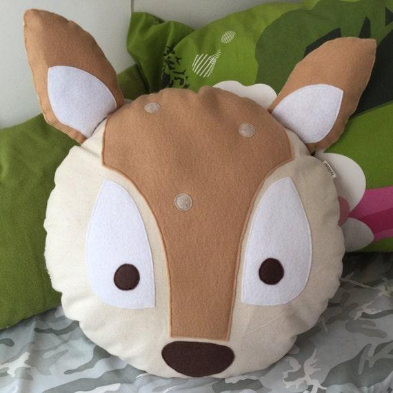 Animal Shaped Eye Pillow : Items similar to Deer Animal Face Plush Pillow + Animal foot print back. on Etsy