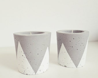 "1 ahoj-2012 tea light holder for concrete ""Triangle/triangle"" candle holders, candle holders, candle, tea light, triangle, geometry, geometry"