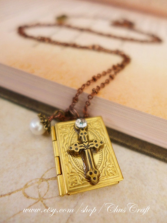 holy bible necklace holy bible jewelry bible locket by