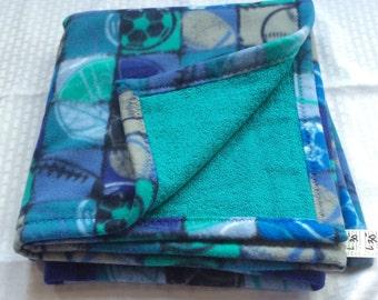 Large PET BLANKET Lush Terry & Fleece Reversible Pet Blanket
