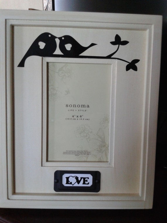 4x6 Sonoma Picture Frame From Kohls Love Birds And By Careycrafts