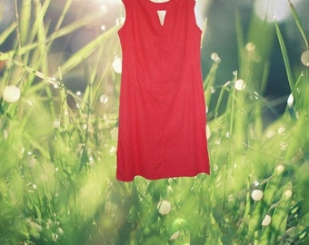 1960s vintage plus size mod red cut out peekaboo shift dress extra large xl 1x 12