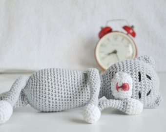Handmade Toy Cat, Soft Toy for Baby, Cat Toy for Kid, Amineko Toy, Stuffed Toy, Crochet Toy, Baby Toy, Baby Shower Gift, Toy for Toddler