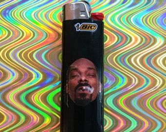 Snoop Dogg Custom Black Bic Lighter