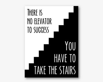 black and white motivational quote poster printable office wall art large typography poster inspirational digital instant download pdf jpg