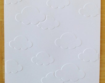 Embossed Card Stock Sheets or Cards/Envelopes -Cloudy Sky