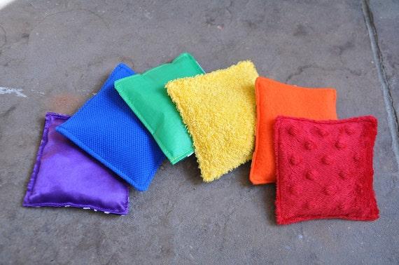Sensory Rainbow Bean Bags Set Of 6 A Montessori Inspired
