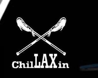 ChilLAXin Lacrosse Car Window Decal