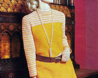 Instant Download - PDF- 2 X  Vintage Crochet Patterns Tunics Both in Size 32 - 38 inch chest