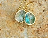 Aqua Blue Earring Light Blue Crystal Drop Earring Dangle Earring Bridesmaid Gift for Mom Mother's Day Gift Gold Earrings Baby Blue Earrings
