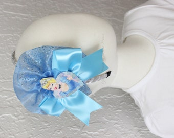 Cinderella Headband, Princess Headband, Girls Headband, Toddler Headband, Disney Headband, Cinderella Prop, Birthday Prop, Cinderella Bow