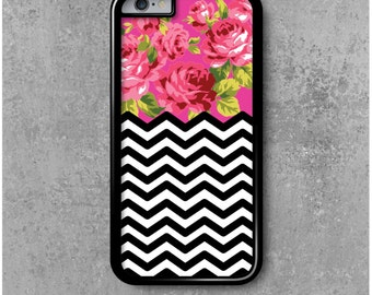 iPhone 6 Case Chevrons Flowers + Free Worldwide Delivery