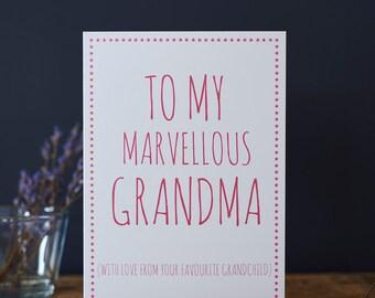 Marvellous Grandma card