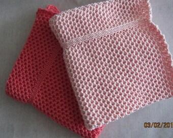 Dishcloth, Handmade knitted dishcloths, 10x10 inc (26x26 cm).