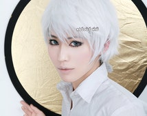 Jack Frost Rise of the Guardians .Kaneki Ken  Tokyo Ghoul short layers pure white cosplay wig (KA001)
