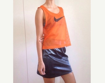 Womens 90's Metallic Club Skirt S 8