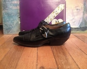 Vtg Womens RIO Black Western Ankle BOOTS Size 10 Stacked Riding Heel Cowboy