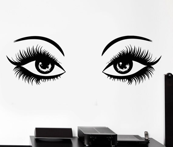 Items similar to Vinyl Decal Wall Sticker Sexy Eyes With ...