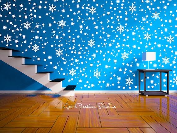 Glitter Snowflakes Peel U0026 Stick Wall DecalsBUY NOW Snowflakes ...