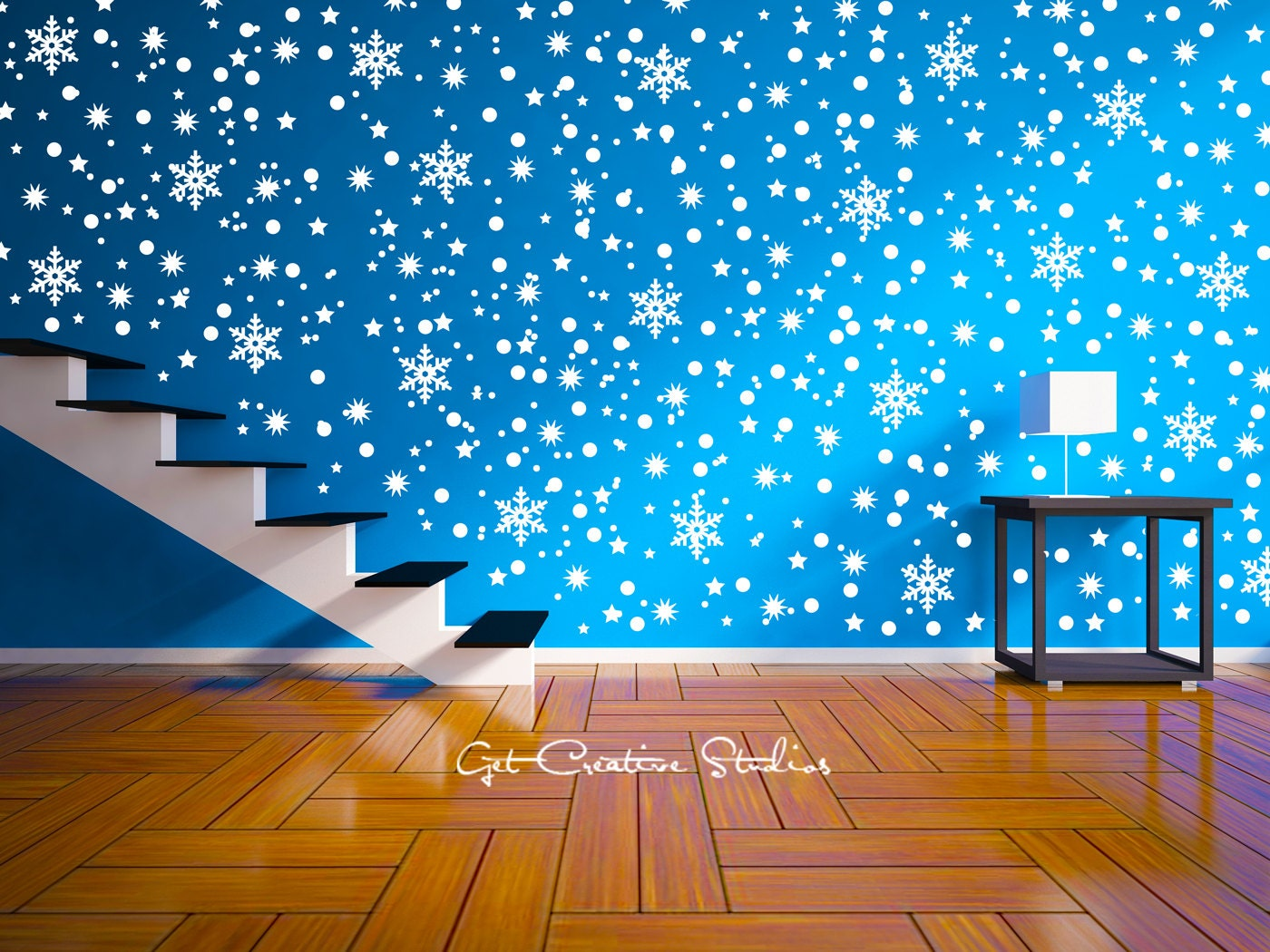 snow decal snowflake wall decal sticker snow storm snowflake. Black Bedroom Furniture Sets. Home Design Ideas