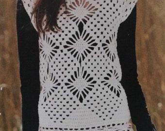 Handmade crochet top vest jumper women crochet clothes MADE TO ORDER