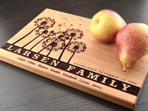 personalized family tree cutting board anniversary by truemementos,