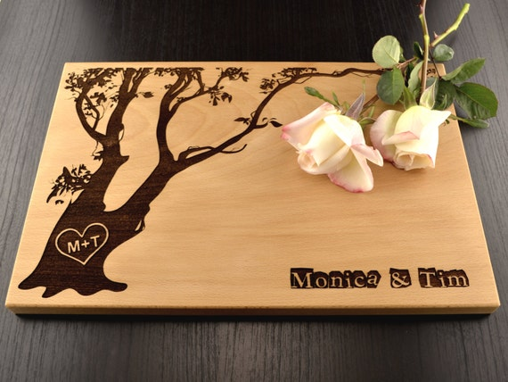 Personalized Wedding Gifts Kitchen : Engraved Cutting Board, Tree Personalized Wedding Gift, Custom ...