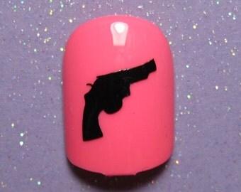 Gun vinyl nail decals, nail stickers, planner stickers, gun gifts