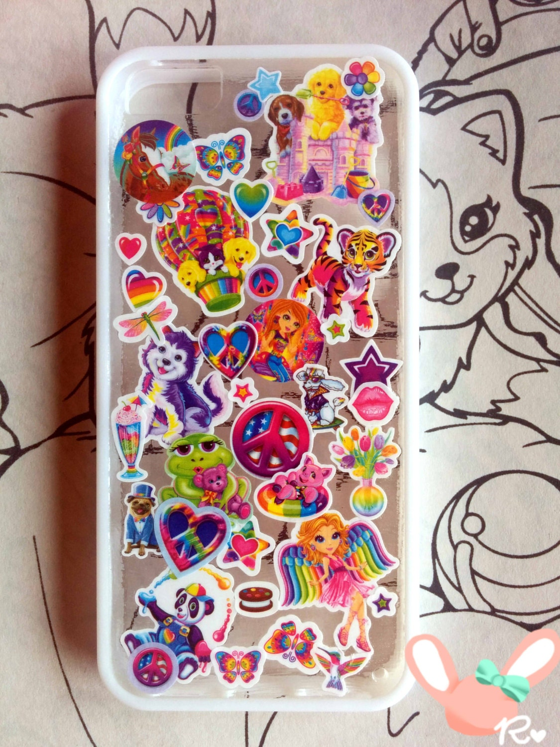 how to keep stickers on phone case