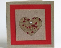 Heart  Paper Cards, Rustic Heart Cards, Iris Folding Heart Shape, Rustic Wedding Cards, Valentine Card
