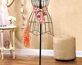Wire Dress Form - Vintage looking dress Form - Dress Form Manequinne - Dress Form display