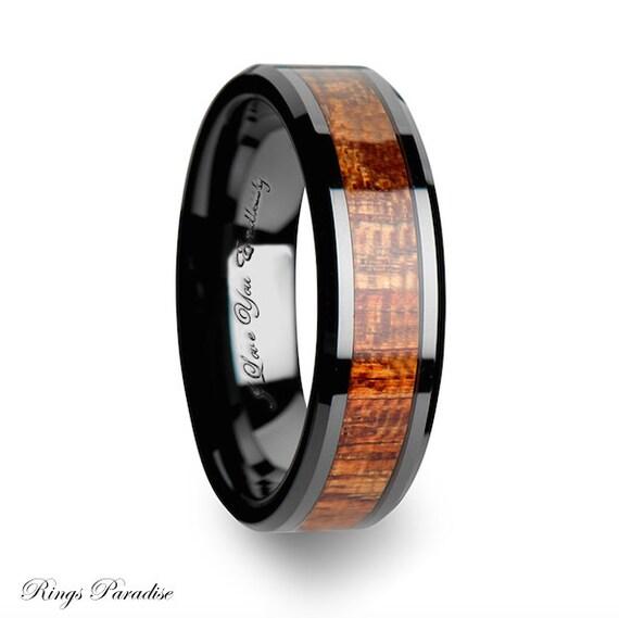 6mm 10mm Ceramic Ring Mens Ceramic Wedding Band By RingsParadise
