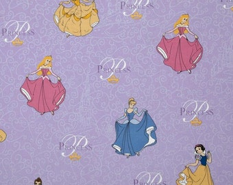 Disney Princess Purple 100% Cotton